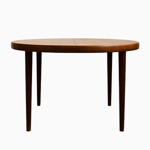 Round Danish Mid-Century Modern Teak Dining Table