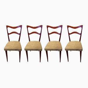 Italienische Mid-Century Esszimmerstühle aus Buche von Sedie Friuli, 1960er, 4er Set