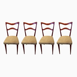Mid-Century Italian Beech Dining Chairs from Sedie Friuli, 1960s, Set of 4