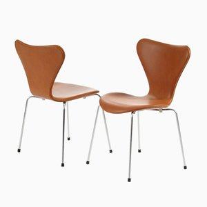 Sedie nr. 3107 di Arne Jacobsen per Fritz Hansen, 2000, set di 6