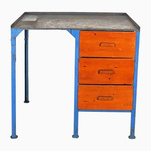 Industrieller Vintage Arbeits-Schreibtisch, 1970er