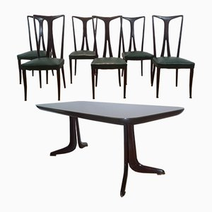 Dining Table & 6 Chairs, 1950s