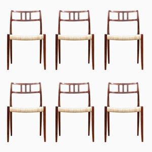 Chaises de Salle à Manger Modèle 79 en Palissandre de Rio par Niels Otto (N. O.) Møller pour J.L. Møllers, 1960s, Set de 6