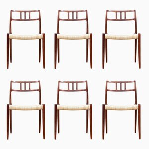 Rio Rosewood Model 79 Dining Chairs by Niels Otto (N. O.) Møller for J.L. Møllers, 1960s, Set of 6