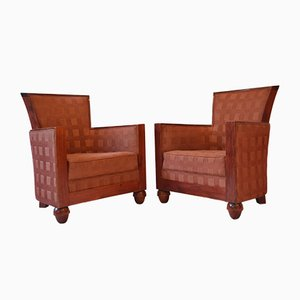 Vintage French Lounge Chairs from Rosello, 1960s, Set of 2