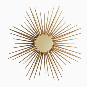 Espejo en forma de sol XL de Chaty Vallauris, años 50