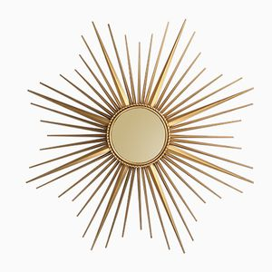 XL Sunburst Mirror from Chaty Vallauris, 1950s