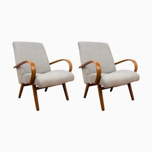 Vintage Model 53 Lounge Chairs by Jaroslav Smidek for TON, Set of 2