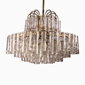 Mid-Century Glass Tube Chandelier from Doria Leuchten, 1960s