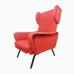 Italian Reclining Lounge Chair, 1960s