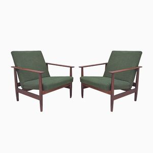 Scandinavin Teak Lounge Chairs by Ingmar Relling for Ekornes, 1960s, Set of 2