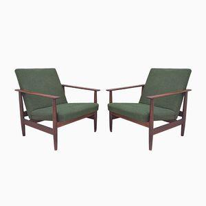 Skandinavische Sessel aus Teak von Ingmar Relling für Ekornes, 1960er, 2er Set