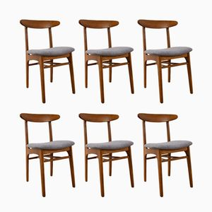 Vintage Model 200-190 Dining Chairs by Rajmund Hałas, Set of 6