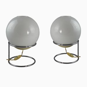 Ball Table Lamps, 1970s, Set of 2