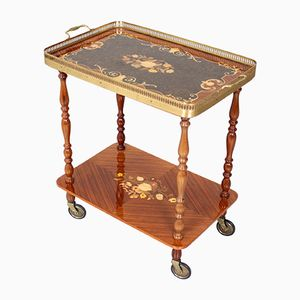 Vintage Italian Brass Tea Trolley