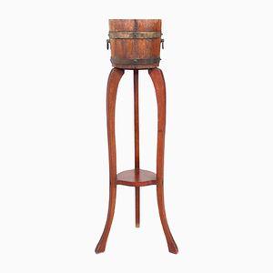 Barril con soporte para macetas vintage de R. A. Lister & Co