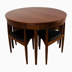 Table de Salle à Manger & 4 Chaises Vintage en Teck par Hans Olsen pour Frem Røjle, 1950s