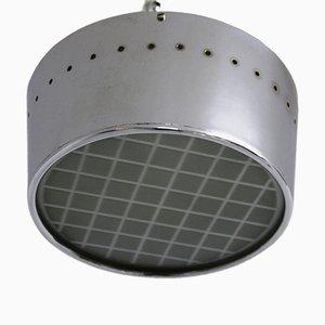 Verchromte Vintage Deckenlampe, 1950er
