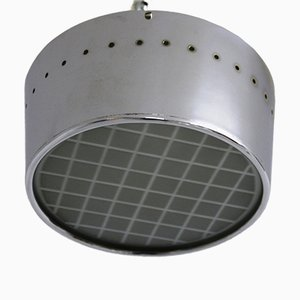 Vintage Chrome-Plated Ceiling Lamp, 1950s