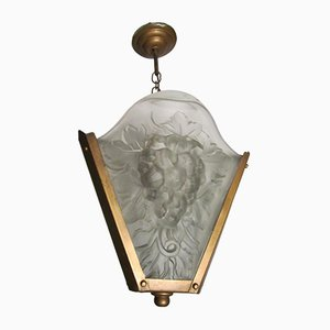 French Art Deco Pendant Light, 1930s