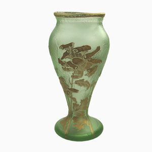 French Art Glass Vase by Mont Joye for Legras, 1900s