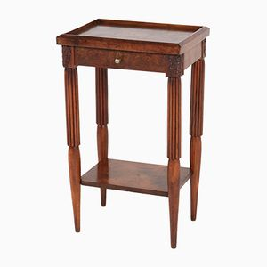 French Art Deco Side Table with Drawer, 1930s