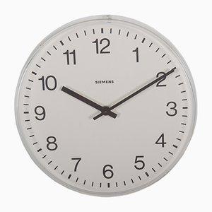 Horloge de Gare ou d'Atelier Vintage de Siemens, 1979