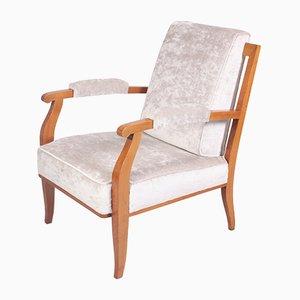 Vintage Stuhl aus Kirschholz von Jules Leleu, 1950er