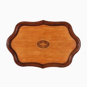 Antique Dutch Serving Tray with Inlay, 1880s