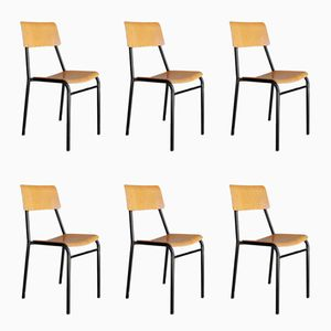 School Chairs, 1960s, Set of 6