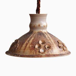 Grande Lampe à Suspension en Céramique de Salling Keramik, 1970s