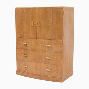 Art Deco Oak Tallboy