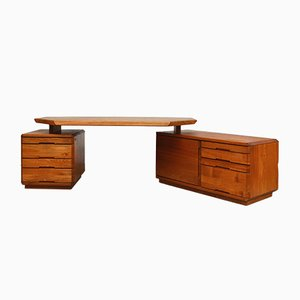 Large Model B40 Desk by Pierre Chapo for Seltz, 1970s