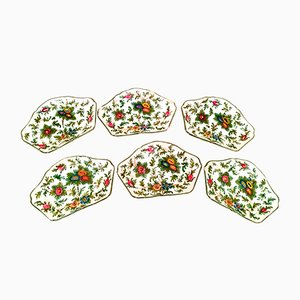Italian Hand-Painted Ceramic Plates from Imola, 1930s, Set of 6