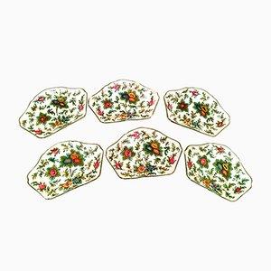 Platos italianos de cerámica pintados a mano, años 30. Juego de 6