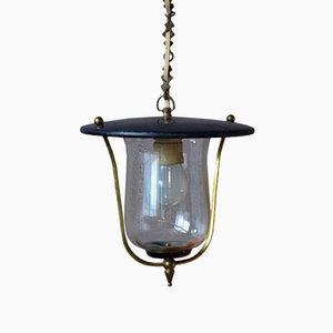Lampe Lanterne à Suspension Mid-Century