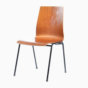 German Teak Plywood Stacking Chair, 1960s
