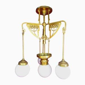 Französische Jugendstil Lampe