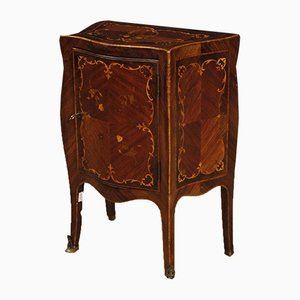 Italian Nightstand in Inlaid Wood, 1950s