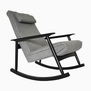 Ąžuolas Rocking Chair by Valerija Ema Cukermanienė for Vilniaus Baldų Kombinatas, 1960s