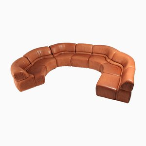 Modular Cosmos Cognac Leather Sofa from de Sede, 1970s
