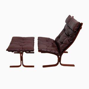 Seggiolone Siesta vintage con schienale alto e poggiapiedi di Ingmar Relling per Westnofa
