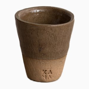 Tasse à Espresso en Grès Marron de Kana London