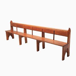 Wabi Sabi Style Solid Oak Bench, 1940s