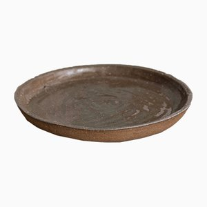 Dark Sand Rustic Dinner Plate from Kana London