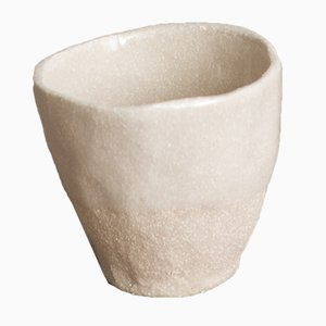 By Hand White Sand Espresso Cup from Kana London