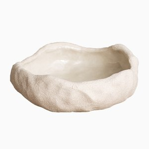 By Hand White Sand Ice Cream Bowl from Kana London