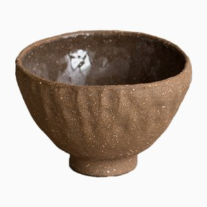 By Hand Dark Sand Soup Bowl from Kana London