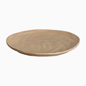 Plato de postre Gold Sand Cake Plate de Kana London