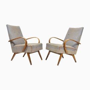 Graue Vintage Sessel, 1960er, 2er Set
